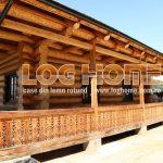 Case din lemn rotund cu Loghome