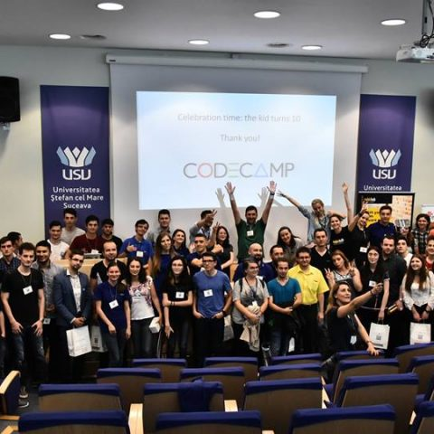 Poza de grup Codecamp 2017 Suceava