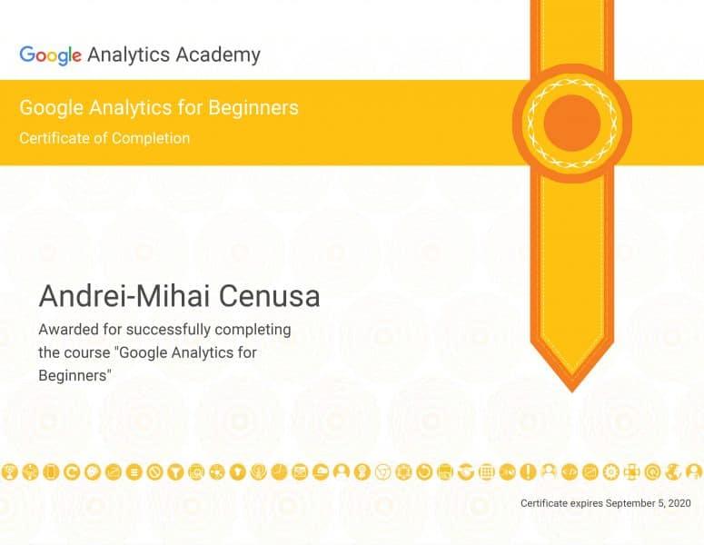 Certificat-Google-Analytics-for-Begginers---5-Septembrie-2020